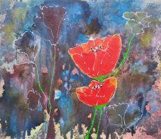 """flowers1"", Format: 330mm x 180mm (Breite x Höhe)"