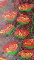 """flowers3"", Format: 130mm x 230mm (Breite x Höhe)"