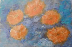 """flowers2"", Format: 450mm x 310mm (Breite x Höhe)"