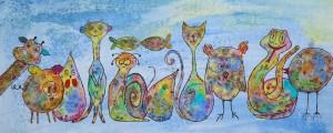 """""""animals"""", Format: 580mm x 230mm (Breite x Höhe)"""