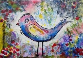 """""""bird"""", Format: 490mm x 340mm (Breite x Höhe)"""