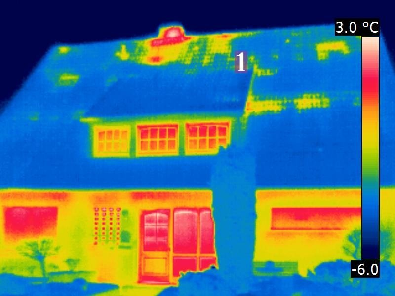 Dachdämmung, Luftströmungen und Thermografie