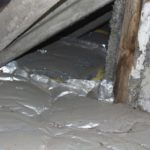 Eine Kaschierung mit Aluminiumfolie ist auf der Oberseite der Deckendämmung fehl am Platze