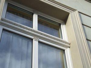Moderne energiesparende Fenster im sanierten Altbau