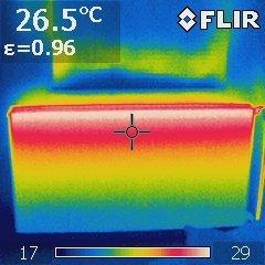 Thermogramm eines Heizkörpers in der Übergangszeit