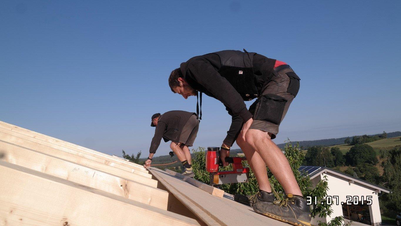 Verlegung von Holzfaserdämmplatten