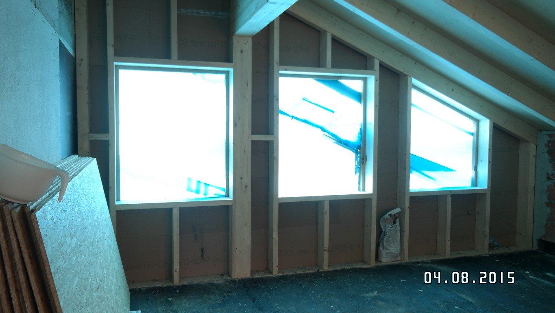 Holzständerbauweise, auf der Baustelle errichtet