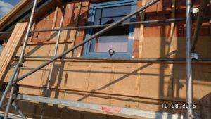 Holzunterkonstruktion für eine wärmegedämmte Fassade