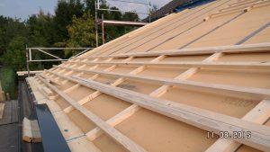 Unterdach aus Holzfaserdämmplatten