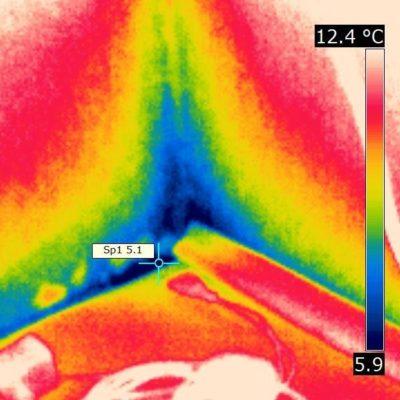 Thermogramm: Schimmelbildung im Außeneckbereich