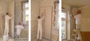 Innendämmung von Außenwänden mit Verbundplatten
