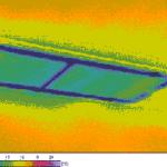 Thermogramm einer Bodenluke