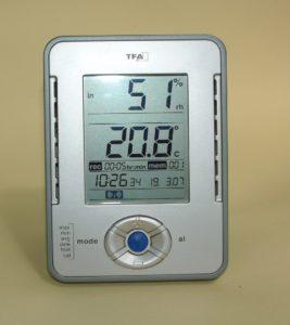 Gut funktionierendes elektronisches Hygrometer mit Datenschreiber und Alarmfunktion
