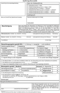 Abgaswegüberprüfung, Abgasbescheinigung, Schornsteinfegerprokoll