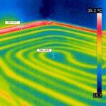 erhöhte Temperatur im Randbereich einer Fußbodenheizung